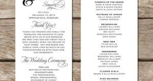 Wedding Ceremony Program Template Free Calendar Template Letter Format Printable Holidays Usa Uk Pdf