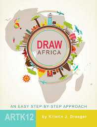 africa map drawing draw africa an easy step by step approach artk12