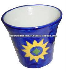 Blue Flower Vases Vintage Blue Pottery Flower Vases Royal Blue Pottery Flower Pots