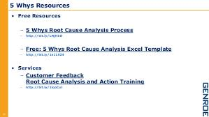 Root Cause Analysis Excel Template The 5 Whys Root Cause Analysis Approach With Your Customer Feed