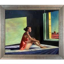 edward hopper u0027morning sun 1952 u0027 hand painted framed canvas art