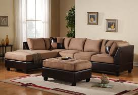 Leather Brown Sofas Andrea 3 Microfiber Faux Leather