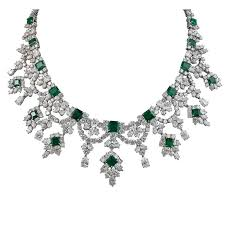 green emerald necklace images Harry winston emerald and diamond necklace for sale at 1stdibs jpg