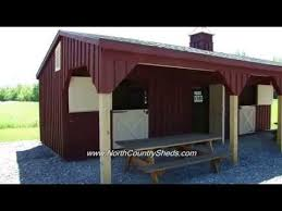 10 Stall Horse Barn Plans Equine 10 U0027 X 32 U0027 Shed Row Horse Shelter Run In Horse Barns