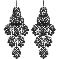 black chandelier earrings black chandelier earrings polyvore
