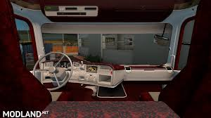 Interior Truck Scania Red Interior For Scania Rjl Mod For Ets 2