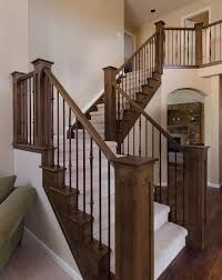 wooden stair railings design love this dark wood step with white
