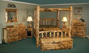 furniture amish log furniture bedroom set of canopy bed frame and