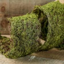 moss ribbon artificial moss wire ribbon artificial greenery floral