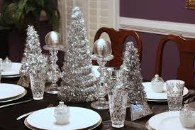 inspiration of red and silver christmas table decorations with