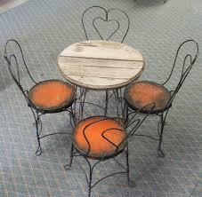 ice cream table and chairs antique ice cream parlor table with four chairs