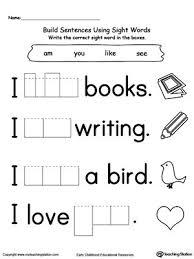 kindergarten worksheets sight word kindergarten worksheets