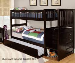 Bunk Beds Espresso Espresso Staircase Bunk Bed All American Furniture Buy 4 Less