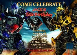 optimus prime birthday party free printable bumble bee birthday party invitation template