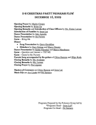 christmas party agenda template 2017 best template examples