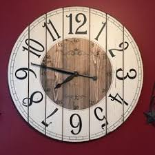 Personalized Clocks With Pictures Oversized Rustic Wood Wall Clock 36