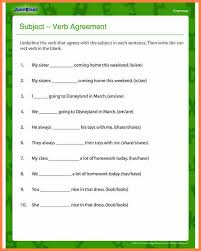 4 subject verb agreement worksheets grade 5 purchase agreement