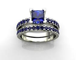 sapphire and engagement rings 3d print model blue sapphire engagement rings cgtrader