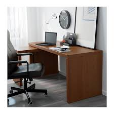 Malm Computer Desk Malm Desk With Pull Out Panel Brown Stained Ash Veneer Brown