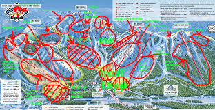 Stratton Mountain Map Trail Map Guides Skiing