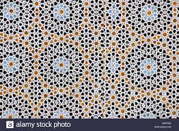 Morocco Design by Islamic Tile Mosaic Design On A Building In Fez Morocco Stock