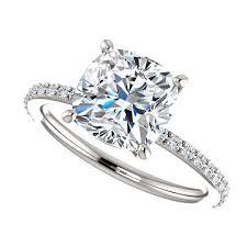 8mm diamond 2 5 carat forever brilliant moissanite engagement ring