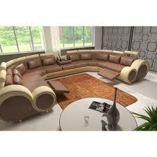 canapé d angle 9 places canapé en u cuir canap en u scandi cuir v ritable salon haut de