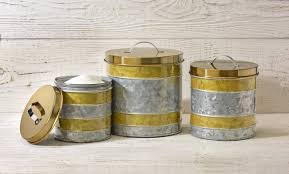 Fleur De Lis Canisters For The Kitchen by Williston Forge Galvanized 3 Piece Kitchen Canister Set Wayfair