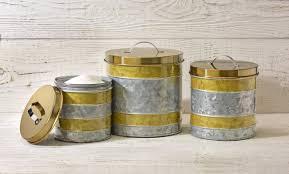 williston forge galvanized 3 piece kitchen canister set wayfair