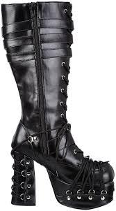 white biker boots demonia bangkok demonia charade 206 women u0027s biker boots shoes