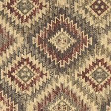 Upholstery Fabric Southwestern Pattern Burgundy Beige And Green Diamond Southwest Style Upholstery