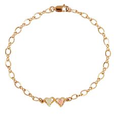 black heart bracelet images Black hills gold heart bracelet free shipping today overstock jpg