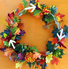 wreath how to make a fall wreath quick and easy wreath