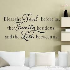 esszimmer auf englisch großhandel 57x117cm große bless food familie liebe wandaufkleber