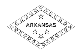 arkansas flag coloring page purple kitty