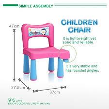 pink table l puku table l 2 chairs set agape babies singapore