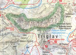 Alps On World Map by Julian Alps Np Triglav Bled Slovenia 1 25 000 Topographic