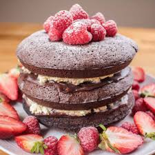 raspberry chocolate brownie layer cake recipe