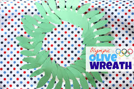olympic olive wreath craft i can teach my child