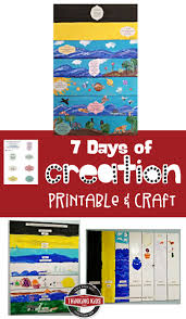 7 days of creation printable and craft thinking kids
