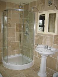 Glass Showers For Small Bathrooms Small Glass Shower Stalls On The Corner With Stainless Shower And