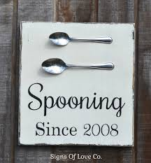 Kitchen Wall Art Decor by Spooning Since Couples Home Decor Personalized Wedding Sign