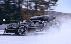 off road sports car what the bugatti chiron would look like as an off road winter