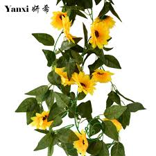 compare prices on sunflower swing online shopping buy low price silk artificial flower sunflowers for home swing garden office party wedding arch bridge wall tree decorations