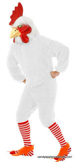 plus size deluxe white rocking rooster costume with mask