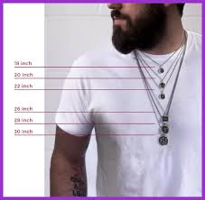 length mens necklace images Marvelous gold necklace sizes pic for length chart popular and jpg