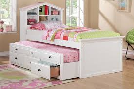 simple toddler bed with drawers to save space in your children