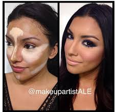 contour makeup very similar looking lady to kim kardashian already has a very pretty face and naturally good strong cheekbones but she definitely knows