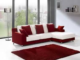 furniture red and white l shaped sectional sofas with chaise and