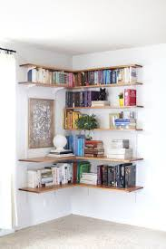 Build Corner Bookcase Build Organize A Corner Shelving System Corner Shelving